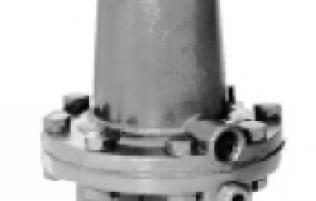 Gas pressure regulating valve FISHER